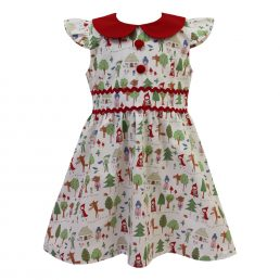 red riding hood print girls dress by powell craft