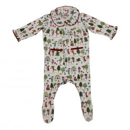 red riding hood print long sleeve jumpsuit by powell craft