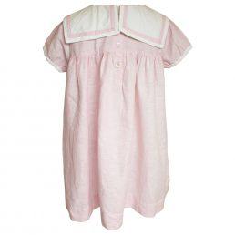 powder pink linen girls sailor dress by powell craft